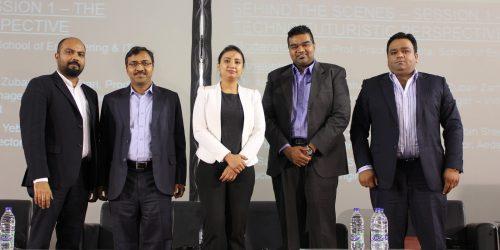 Day 2 First Panel Discussion during Career Fair - Mr. Yebin, Mr. Sama, Asst. Prof. Prachee(Moderator) , Mr. Zubair, Mr. Usman